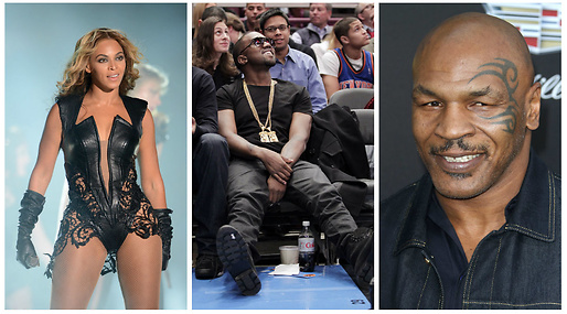 Kanye West, Mike tyson, Beyoncé Knowles-Carter, Superbowl
