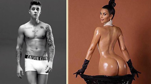 Justin Bieber, Calvin Klein, Kim Kardashian,  Break the internet