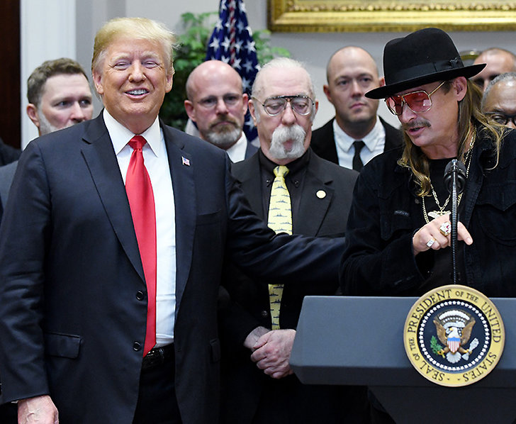 Donald Trump och Kid Rock