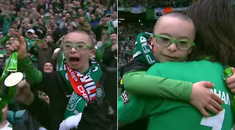 Dundee United, Titel, Neil Lennon, Georgios Samaras, Medalj, Jay Beatty, Celtic, Downs syndrom, Supporter, Firande, Fotboll, Skottland