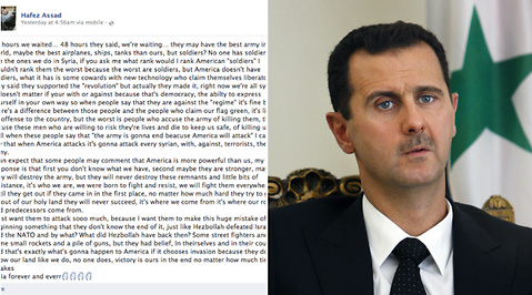 Facebook, Bashar al-Assad, Syrien, USA