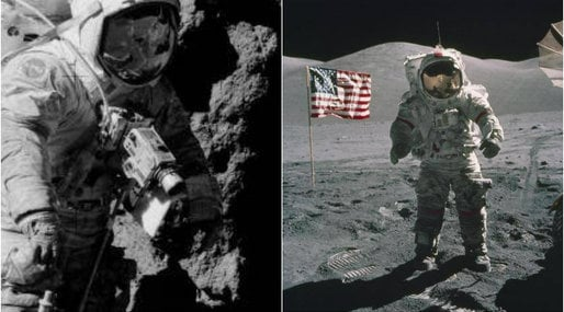 Konspirationsteorier, Apollo 17, månlandningen