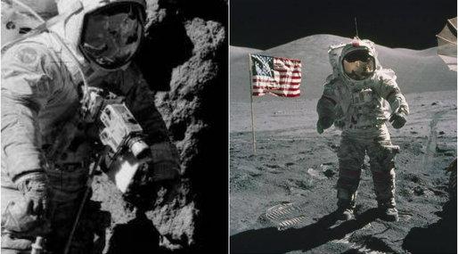 månlandningen, Apollo 17, Konspirationsteorier
