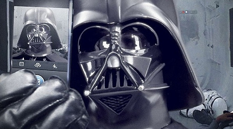 Darth Vader, instagram, Star Wars, Sociala Medier, Luke Skywalker, Selfie