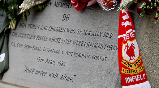 25 år, Hillsborough, Don't buy the sun, Minnesceremoni, The Sun, Liverpool FC, Anfield Road,  Justice for the 96
