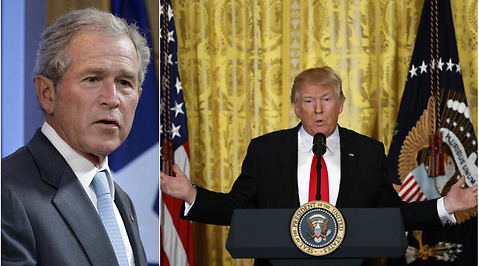 Donald Trump, Kritik, Fake news, George W Bush, Media, Pressfrihet