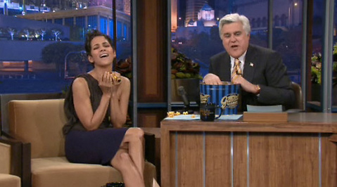 Halle Berry, Teve, Popcorn, Hollywood, Film, Orgasm, Jay Leno