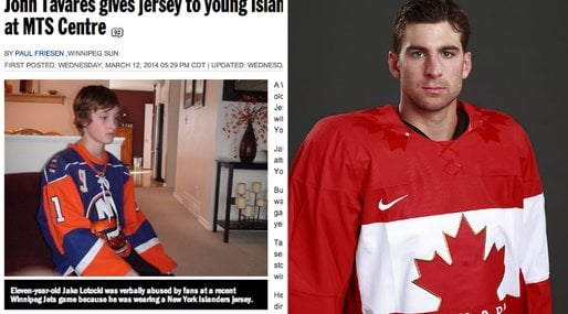 New York Jersey, Hockey,  Jake Lotocki, John Tavares,  Sue Lotocki