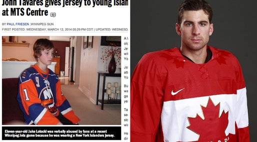 Sue Lotocki, John Tavares,  New York Jersey,  Jake Lotocki, Hockey