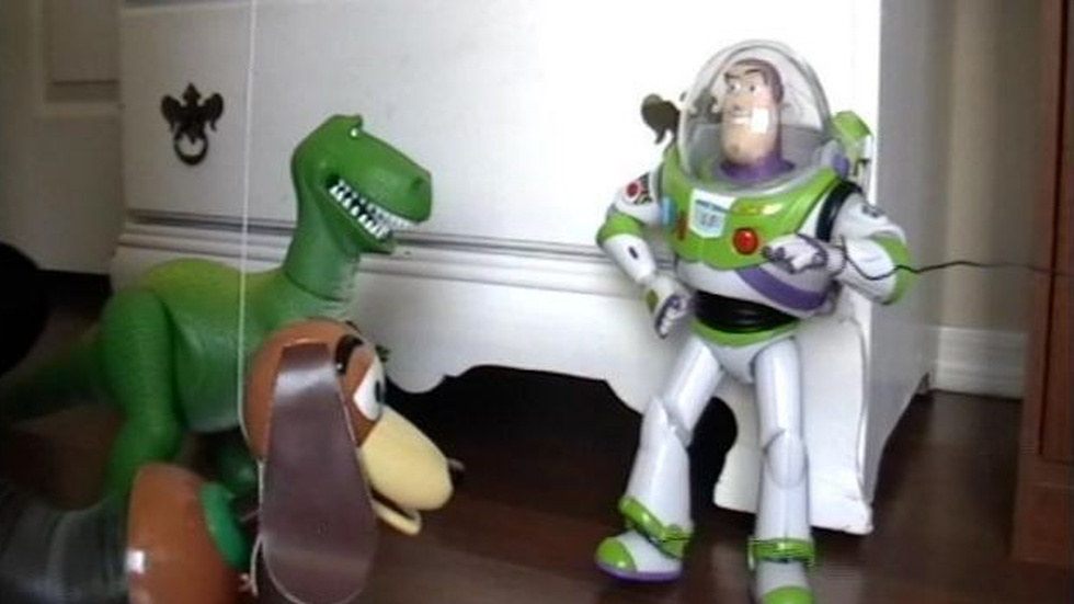 "Scen ur ""Live-action Toy story project""."