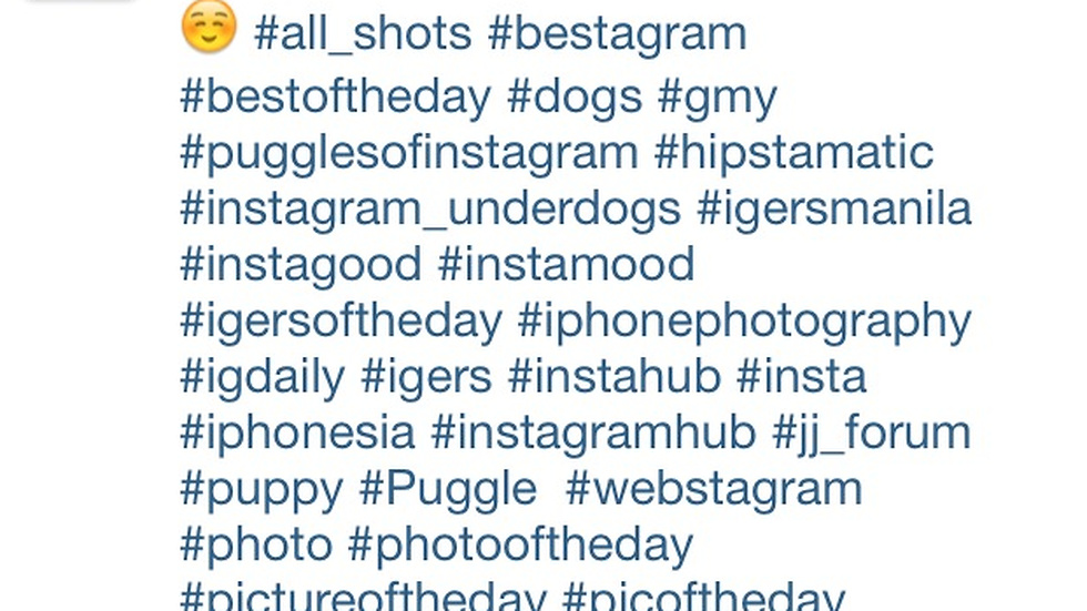 Hashtags! Hashtags everywhere!