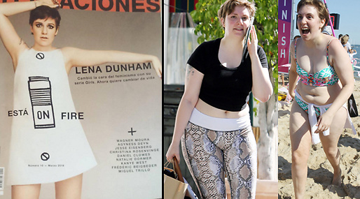Lena Dunham, Retuschering, instagram