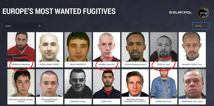 Europes most wanted