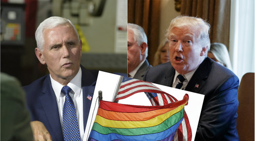 Mike Pence, HBTQ, Donald Trump