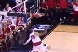 Oregon Ducks, basket,  Sam Dekker,  Wisconsin Badgers, Dunk