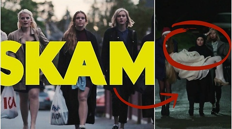 Chris, skam, Sana, Jonas, Isak, Julie Andem, William, Noora, Tarjei Sandvik Moe