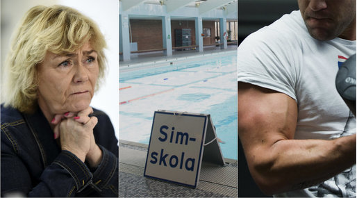 Simhall, Gym, Moderaterna, Badhus, Beatrice Ask