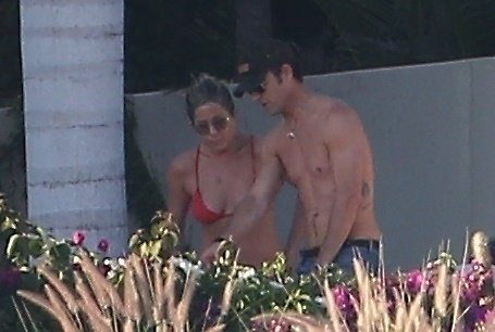 Justin Theroux och Jennifer Aniston i Cabo.