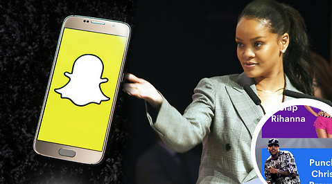 Chris Brown, Rihanna, Snapchat
