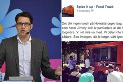 Sverigedemokraterna, Jimmie Åkesson,  Spice it up foodtruck, Foodtruck