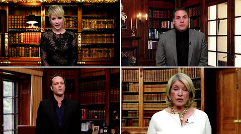 Martha Stewart, Crack, Jennifer Lawrence, Vince Vaughn, Taylor Swift, Jonah Hill, David Letterman