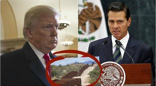 Mur, Donald Trump, Enrique Peña Nieto, Mexiko