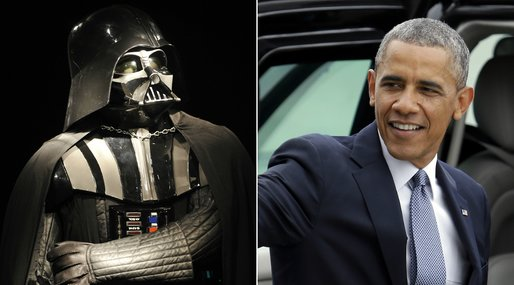 Barack Obama,  Jar Jar Binks, Star Wars, USA, Politiker, Darth Vader, Mätning