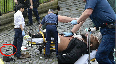 Terrorattacken i Westminster, Attack, London