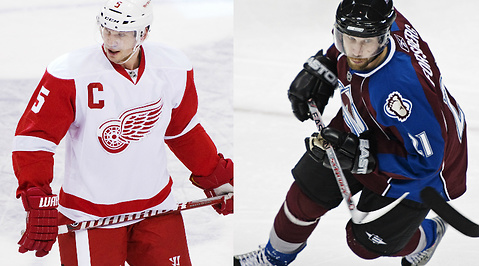 Colorado Avalanche, Peter Forsberg, Detroit Red Wings, nhl, Nicklas Lidstrom