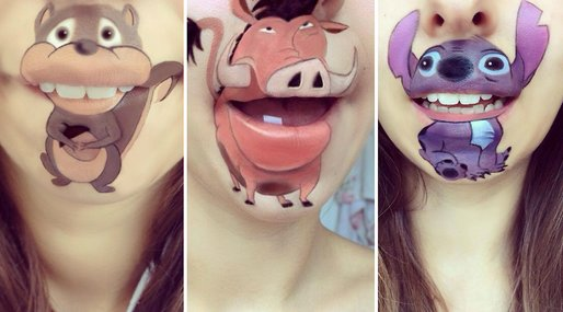 makeupartist, mun, Disney,  Makeup, smink, Figurer