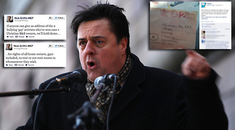 Nick Griffin, Homosexualitet, British National Party, Facebook, BNP, Twitter