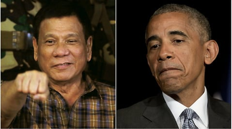 Filippinerna, Rodrigo Duterte, Barack Obama, Toppmöte