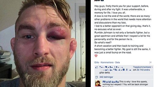 Anthony Johnson, blåslagen, UFC, The Mauler, Facebook, MMA, Alexander Gustafsson