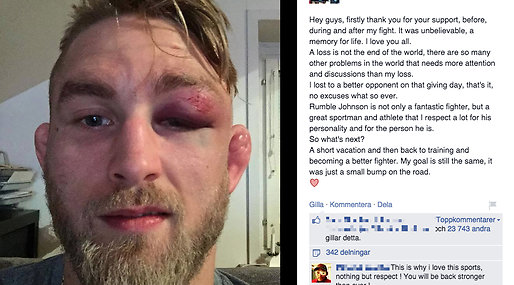 Facebook, The Mauler, MMA, Anthony Johnson, blåslagen, Alexander Gustafsson, UFC