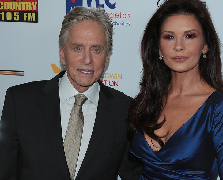 Catherine Zeta-Jones och Michael Douglas