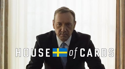 House of cards, netflix, Totte Löfström, Kevin Spacey,  Ellinor Svensson