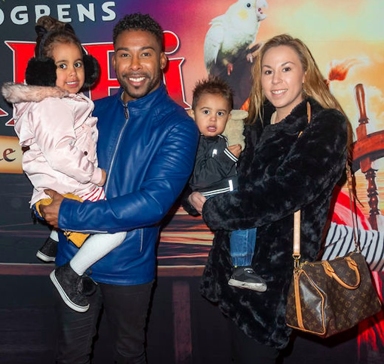 John Lundvik with his girlfriend
