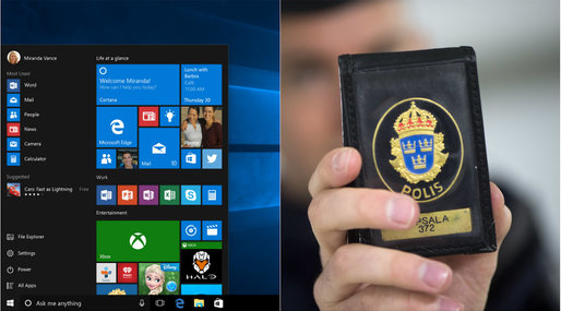 Polis, windows 10, Polisen, Varning, Windows