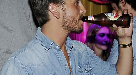 Kourtney Kardashian, Scott Disick, Alkohol
