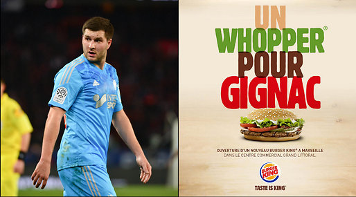 Paris Saint Germain, Vikthån, Whopper, André-Pierre Gignac, Marseille, Big Mac
