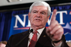 Newt Gingrich, Presidentval, South Carolina, Republikanerna, USA, Mitt Romney