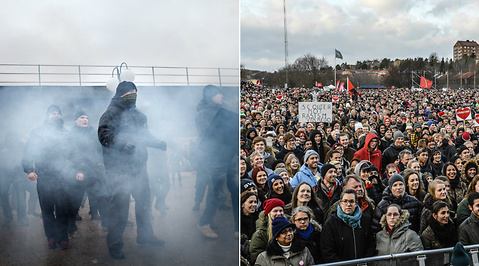 Demonstration, Kärrtorp, festival, Nazism