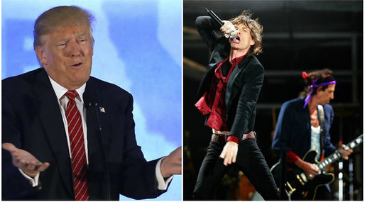 Donald Trump,  The Rolling Stones