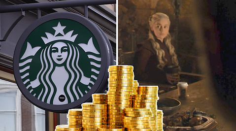 game of thrones, Starbucks