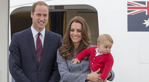 Kate Middleton, Prins William, Prins George, Gravid