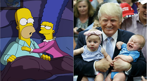 The Simpsons, USA, Vita huset, Donald Trump, Hillary Clinton, Bill Clinton