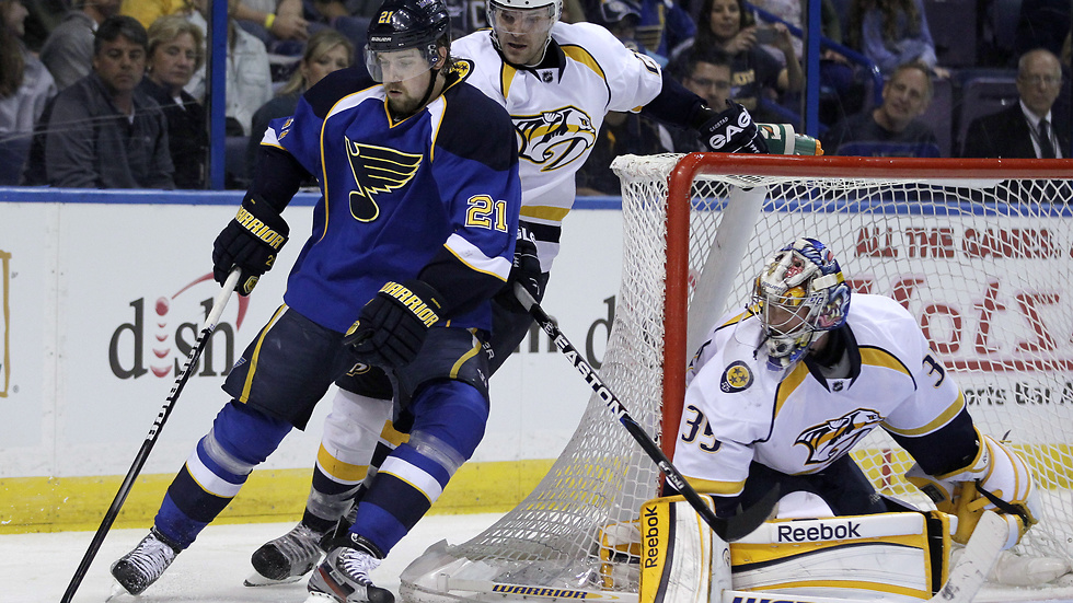 Patrik Berglunds St Louis Blues vann med 3-0 mot Nashville Predators.