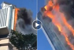Kina, hotell, Brand,  n24video