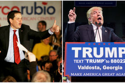 Donald Trump, supertisdag,  Ted Cruz,  Super Tuesday,  Marco Rubio, Bernie Sanders, amerikanska valet, Politik, Hillary Clinton