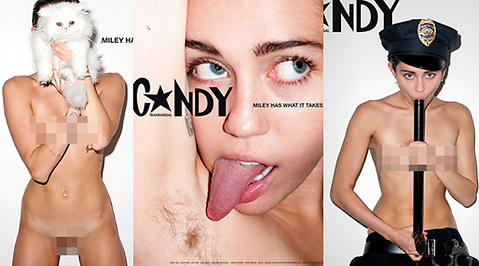 Miley Cyrus, Nakenbild, Terry Richardson